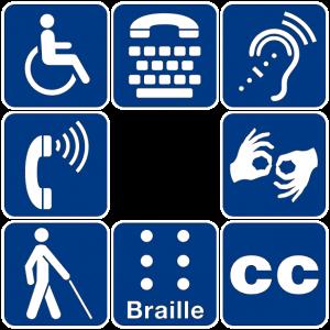 8 pictogrammes relatifs à l'accessibilité
